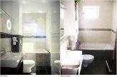 Łazienka w kolorach brązu i beżu