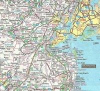 Mapa Nowego Jorku