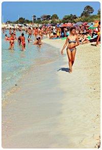 Plaża pełna turystów